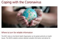 «Affronter le coronavirus», page dédiée sur le site internet du COE